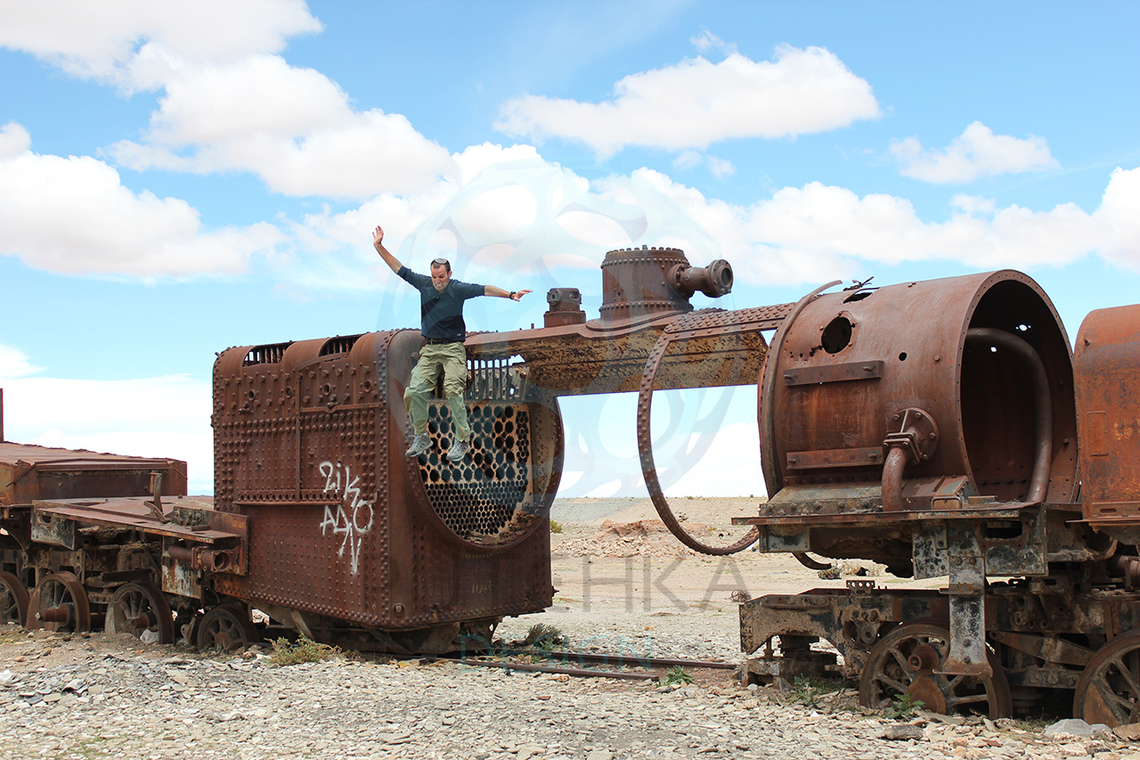 Jumping Off Abandoned Trains Bolivia