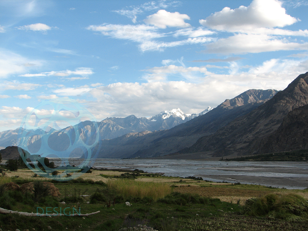 View of the Himalayas from Nubra Valley