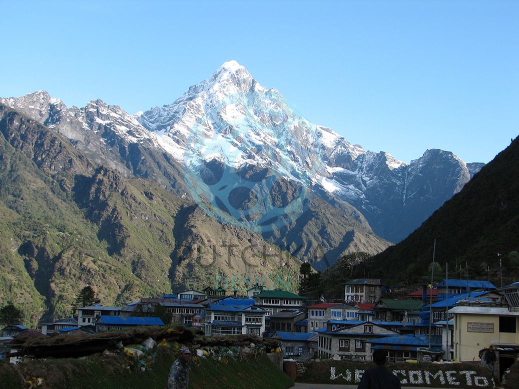 view from Lukla