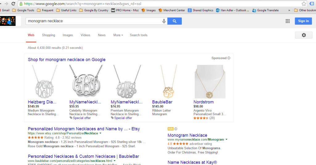 Testing New Google Shopping Layout